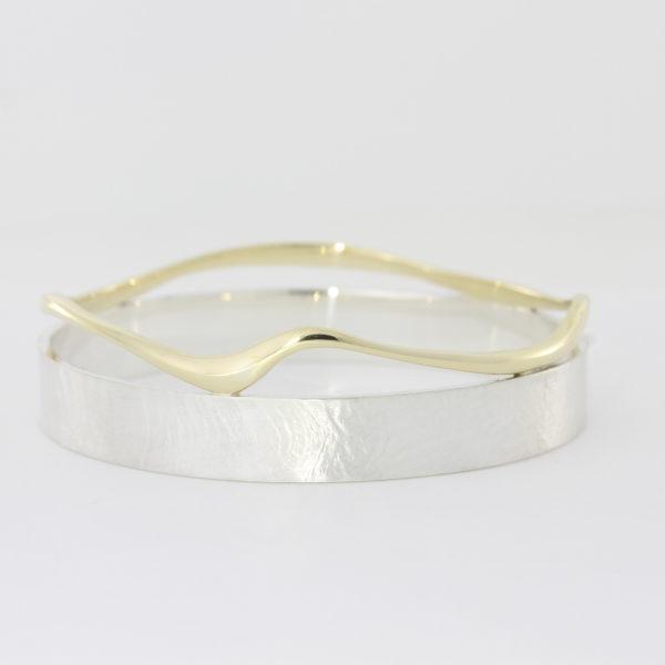 Payet argentium silver & gold bracelet