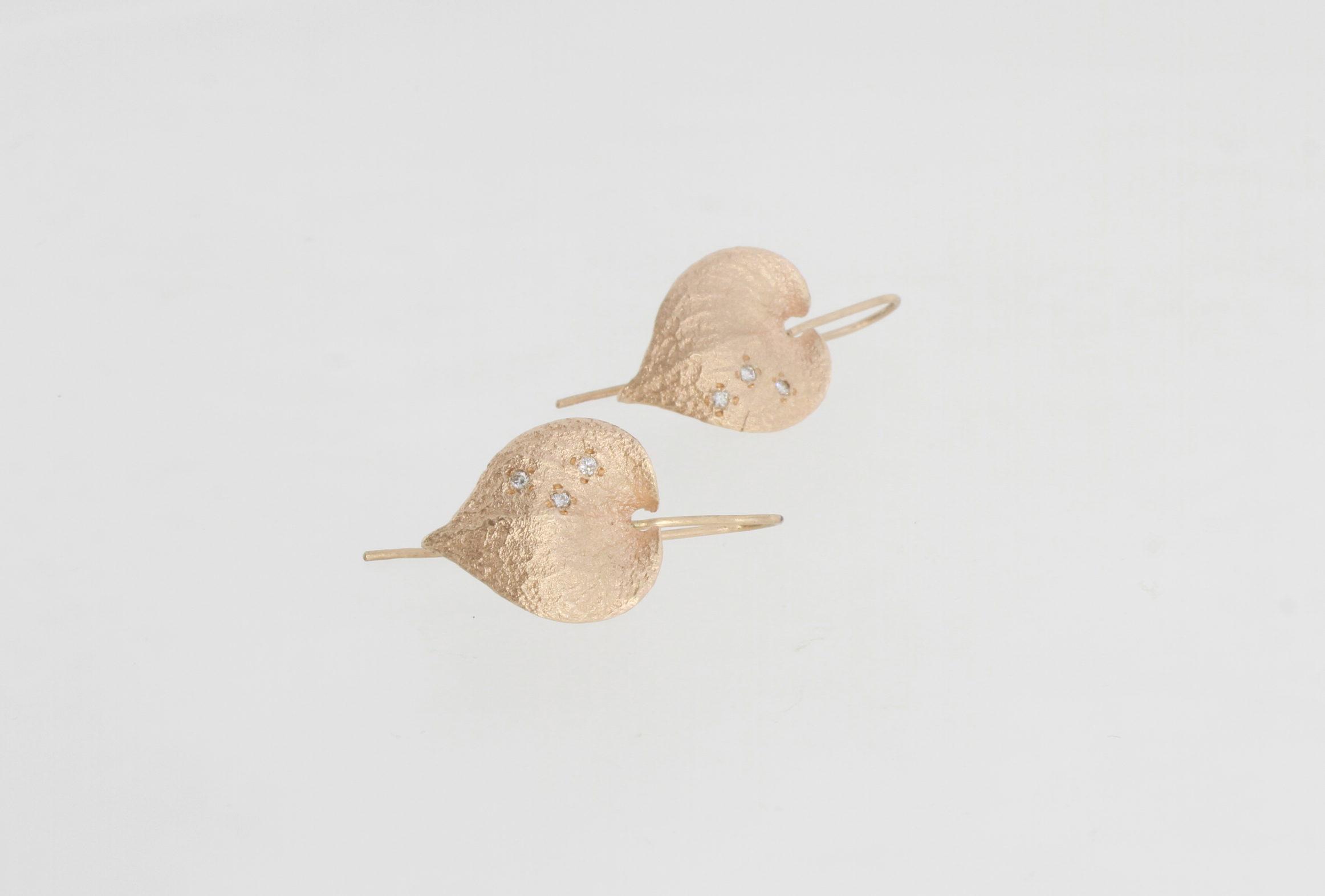 Payet diamond leaf earring