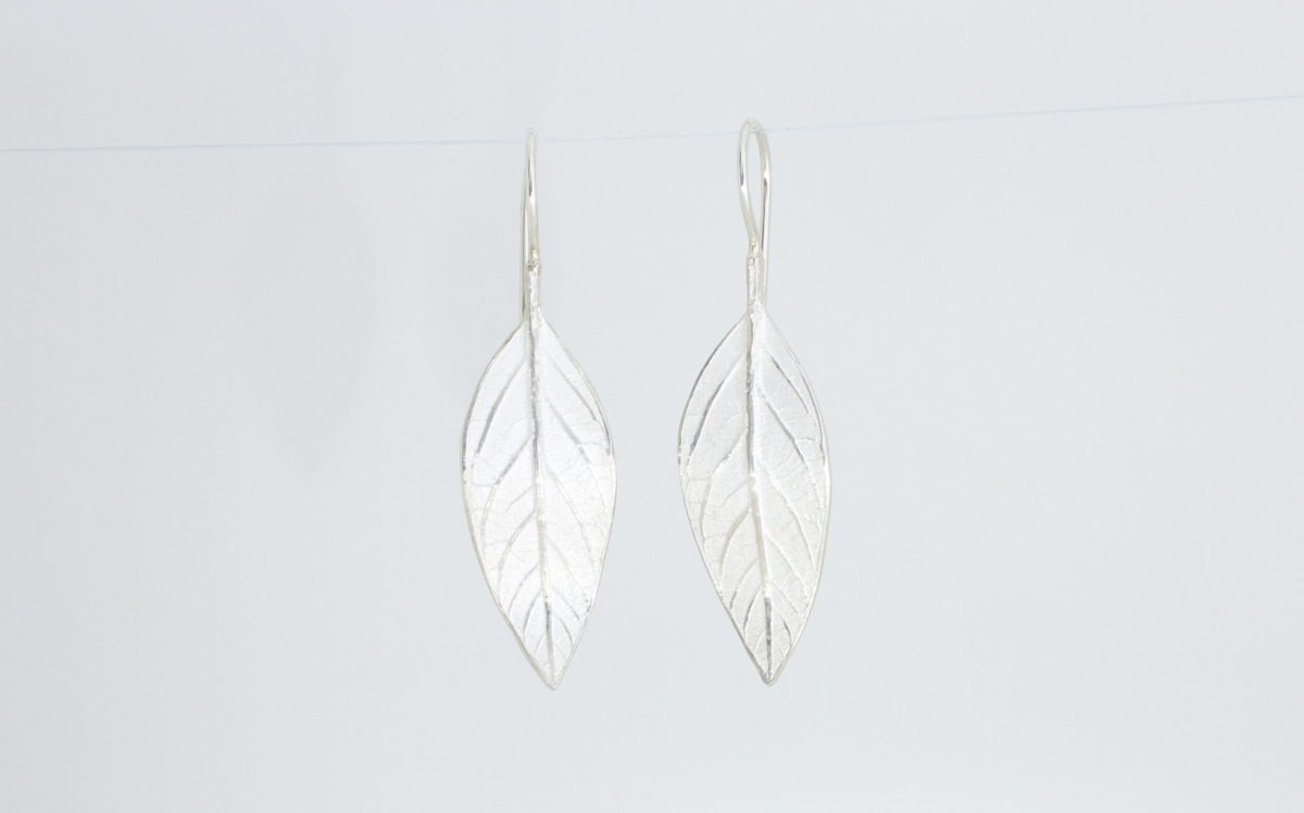 Payet avocado inspired leaf earrings