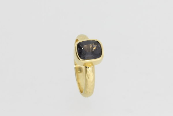 Payet textured grey spinel ring