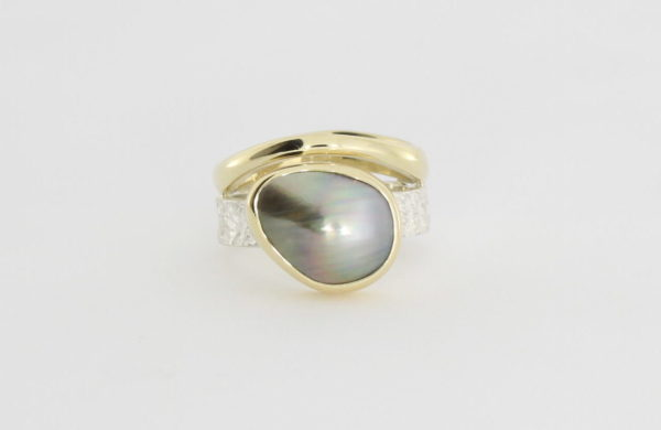 Payet two tone abrolohos island pearl ring