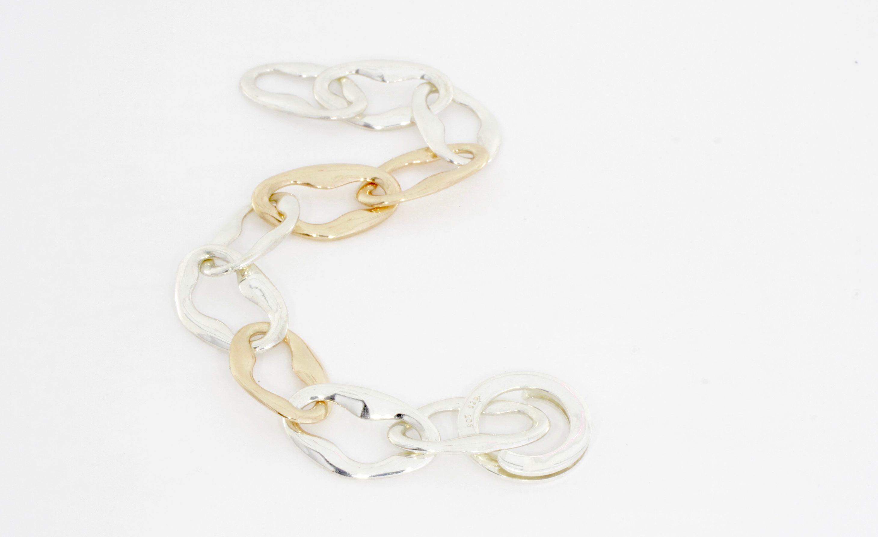 Payet link silver gold bracelet