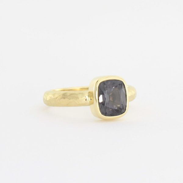 Payet grey spinel textured ring