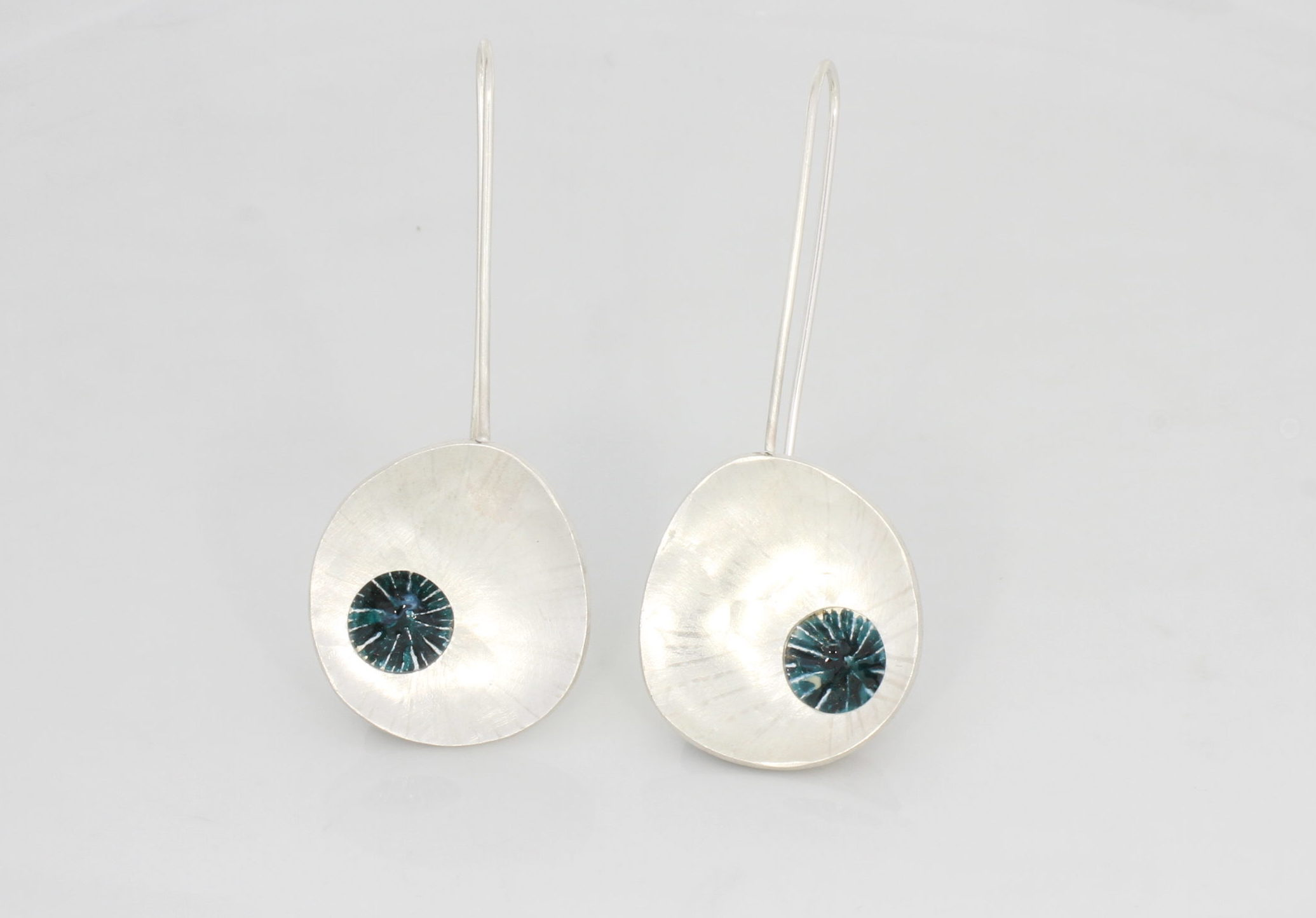 Payet silver enamel earrings