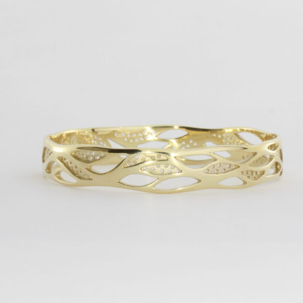 Payet gallery bespoke bangle in 9ct yellow gold