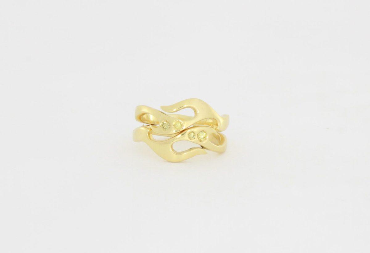 Payet yellow diamond ring set