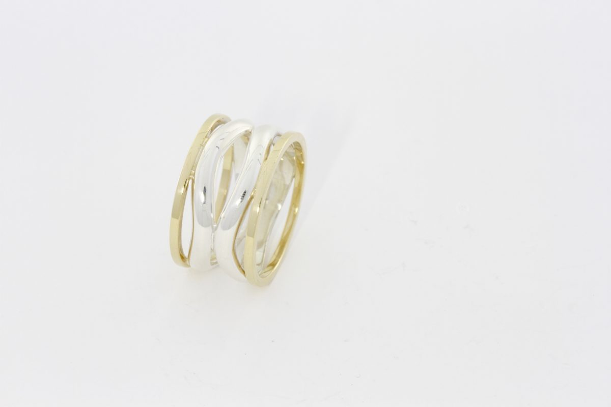 Payet silver & gold 4 band ring