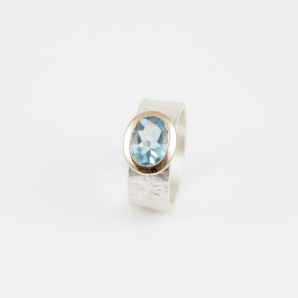 Payet blue topaz lolly ring
