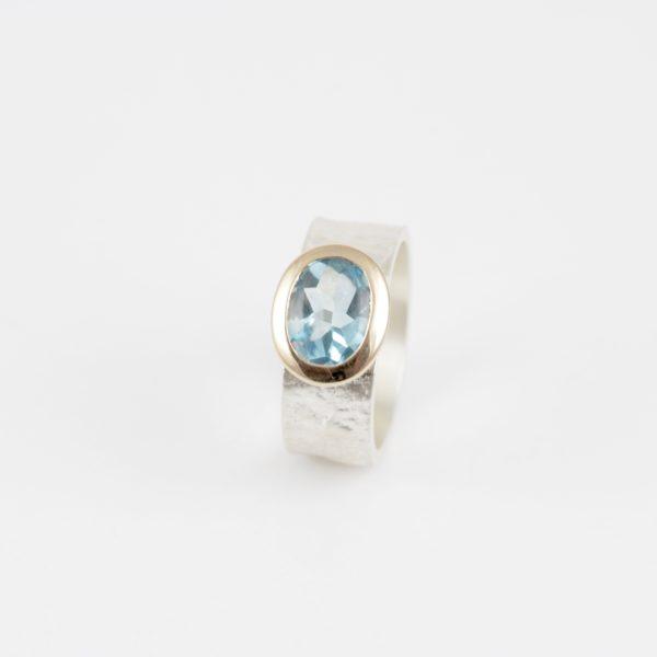 Payet blue topaz lolly ring