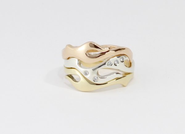 Payet 3 gold diamond seaweed ring
