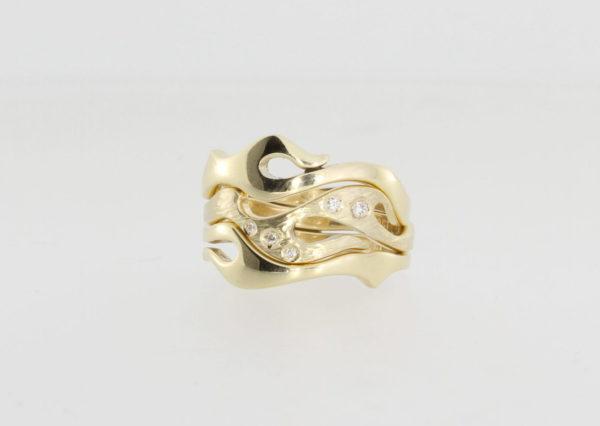 Payet triple seaweed diamond ring
