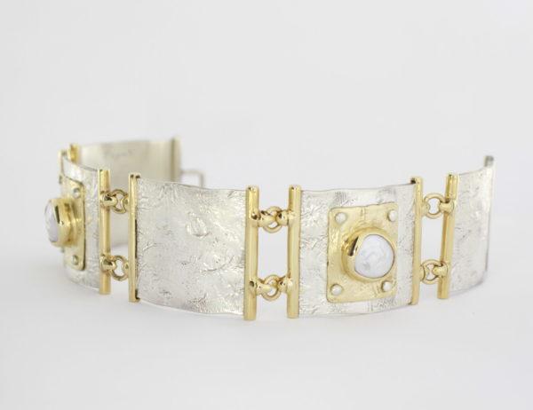 Payet button pearl bracelet