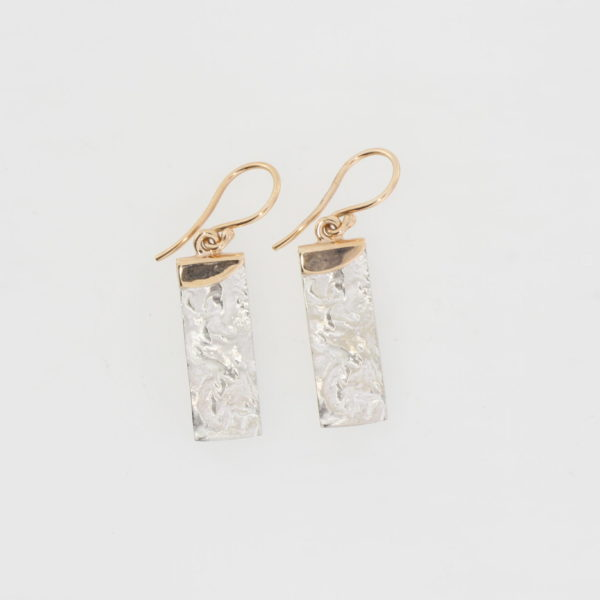 Payet reticulated silver & rose earrings