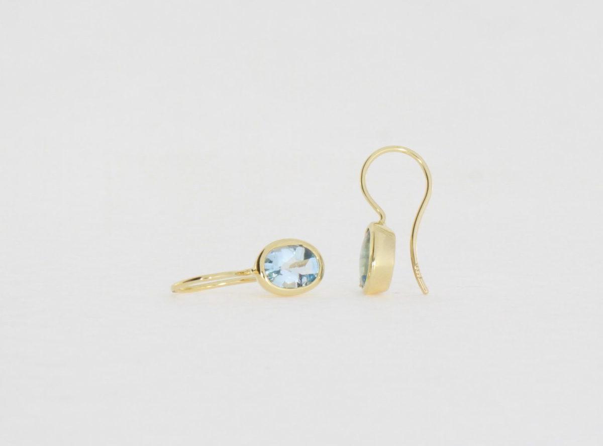 Payet blue topaz earrings