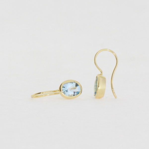 Payet blue topaz earrings