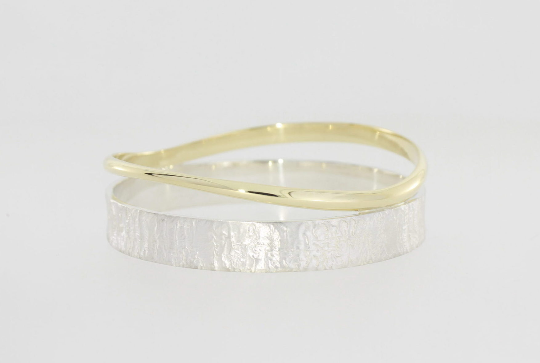 Payet reticulated silver & 9ct wave bracelet