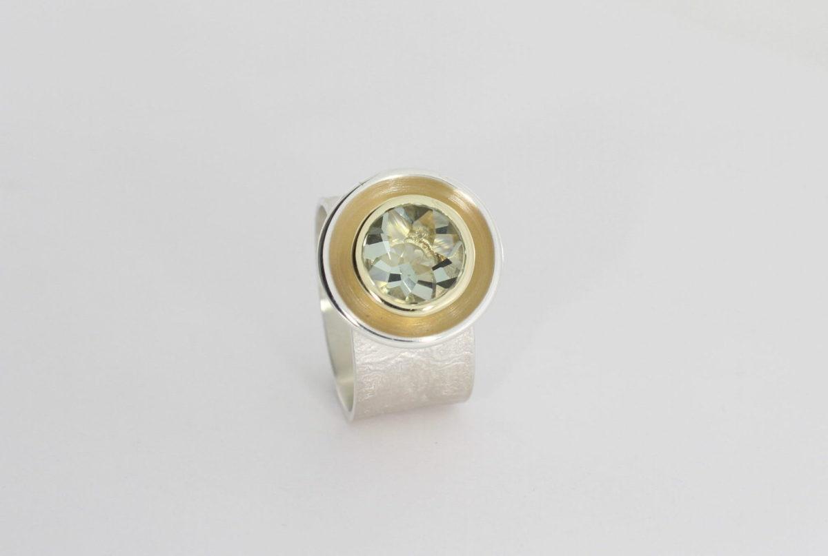 Payet green quartz dish ring