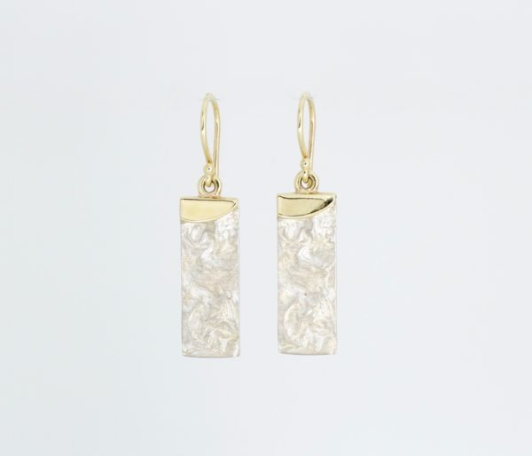 Payet gold and silver drop earrings