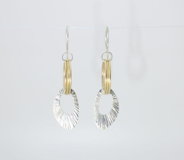 Payet gold and silver earrings
