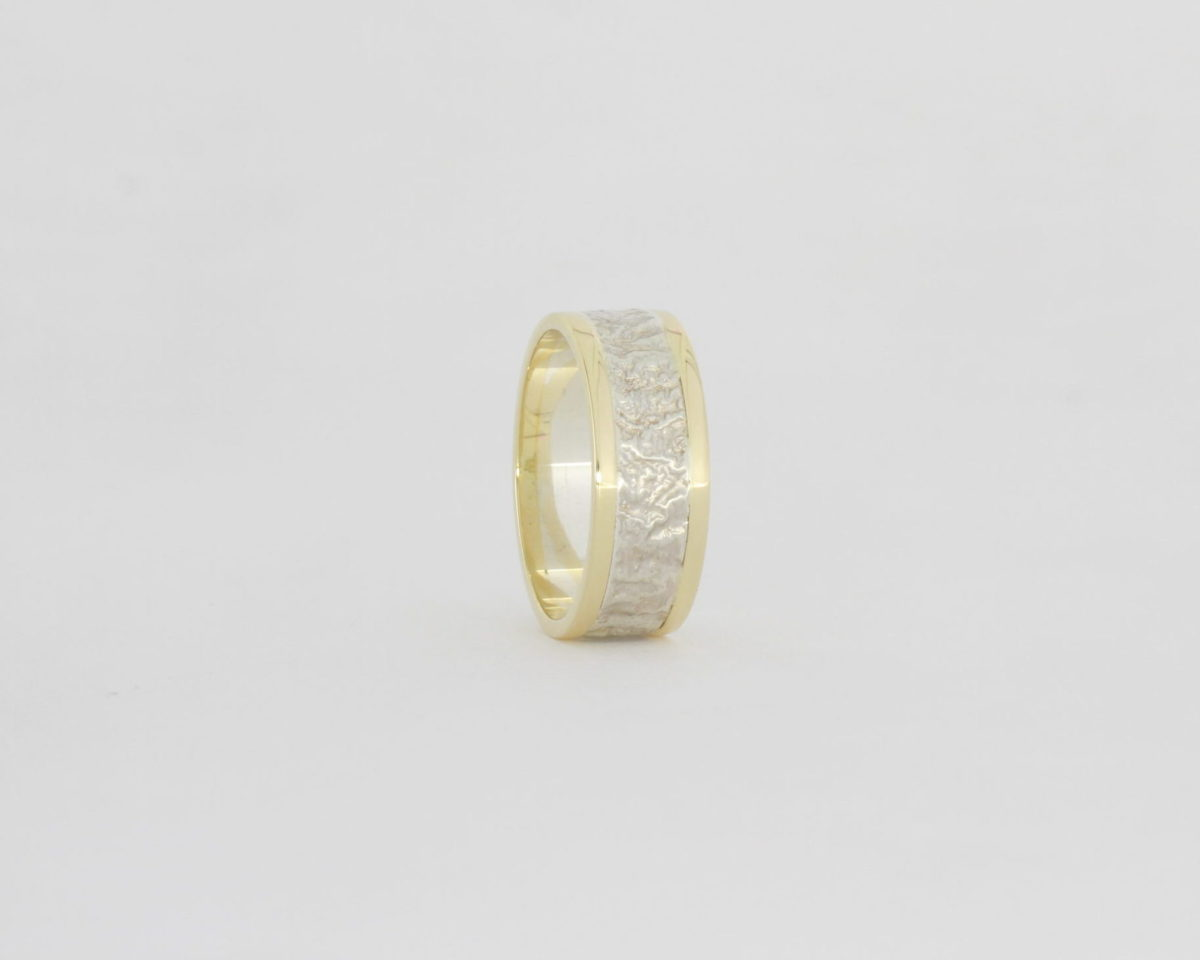 Payet retic silver & gold ring