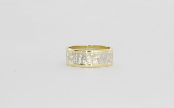 Payet reticulated silver & gold ring