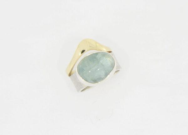 Payet aquamarine twinband ring