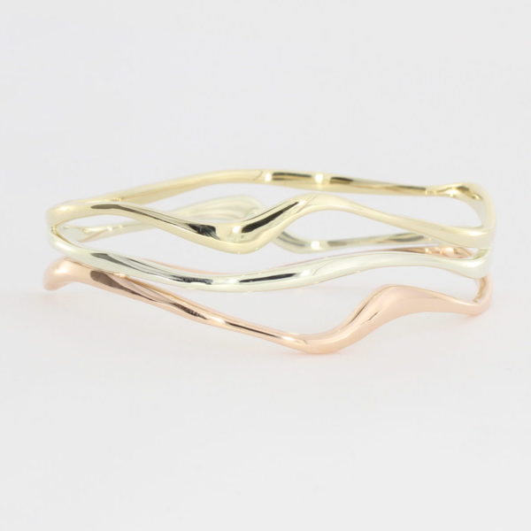 Payet triple gold wave bracelet