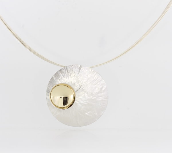 Payet gold and silver pendant