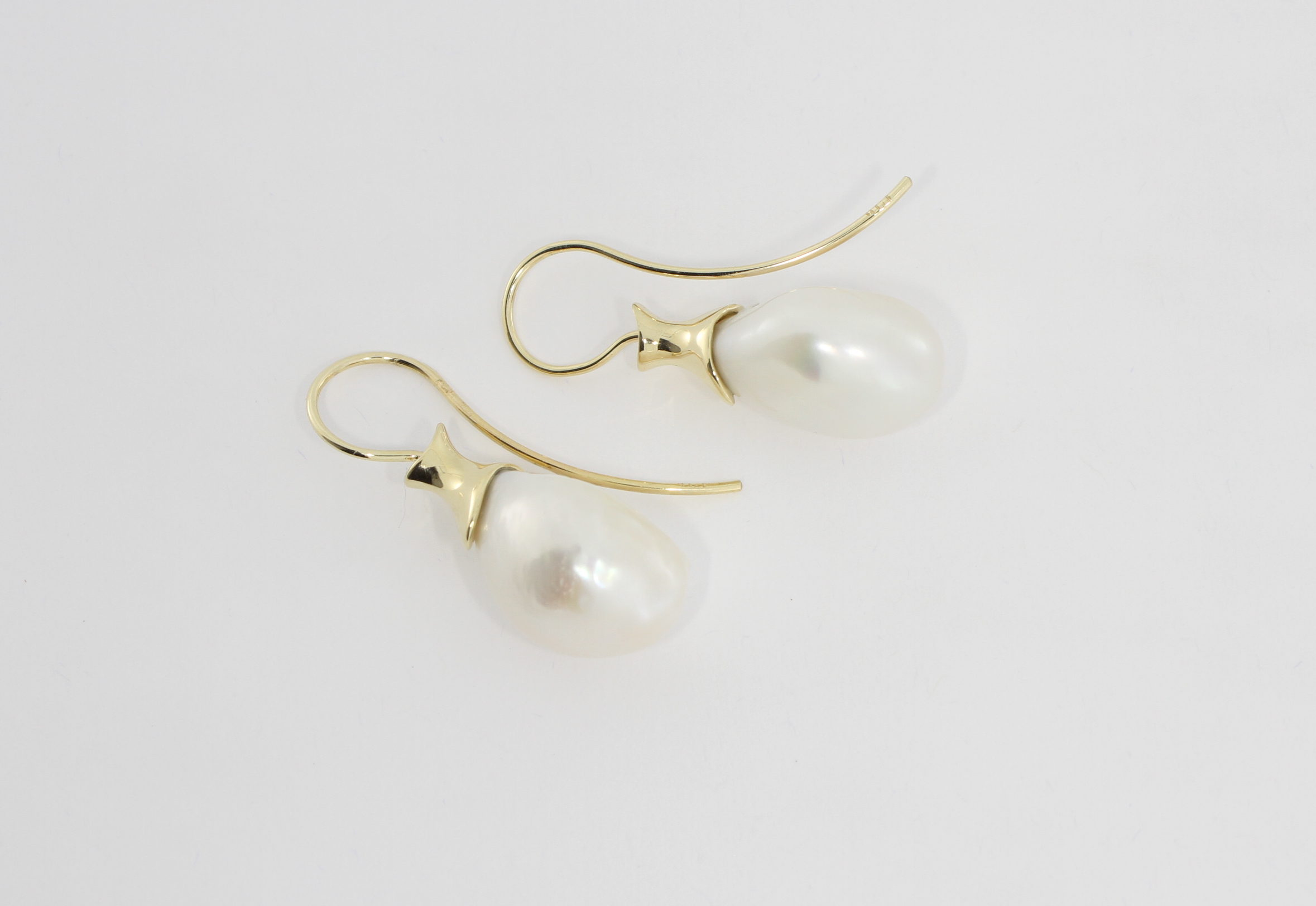 Payet large fresh water pearl earrings