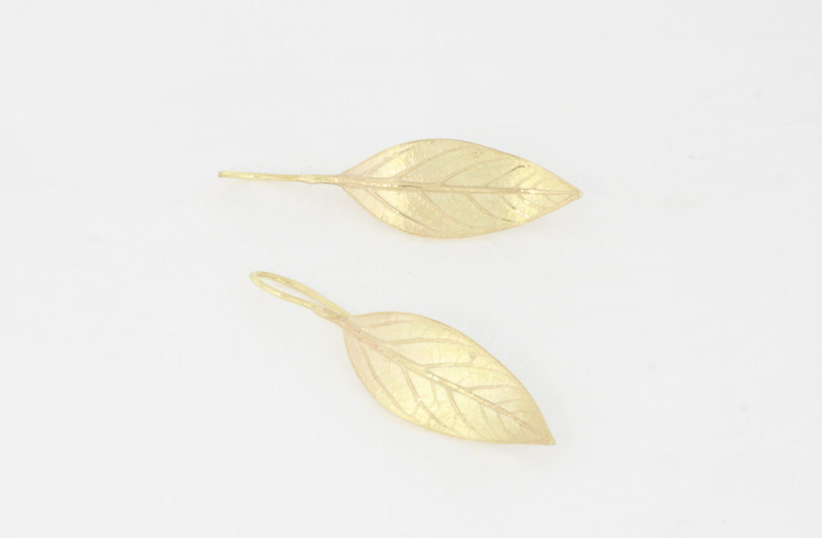 Payet avocado leaf earrings