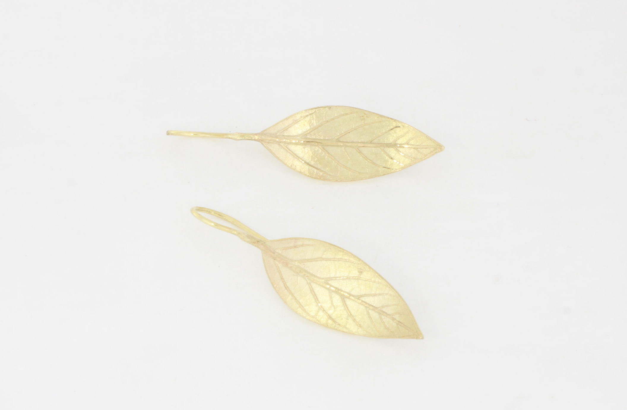 Payet avocado leaf earrings