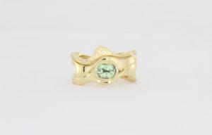 Payet gallery bespoke green garnet ring