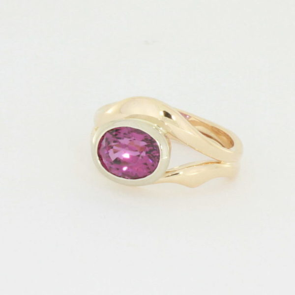 Payet umbalite garnet rose gold ring