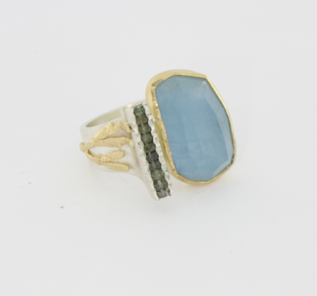Payet gallery aquamarine ring