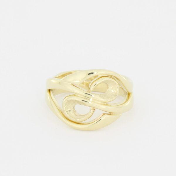 Payet gold swirl ring