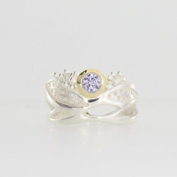Payet lavender sapphire silver ring