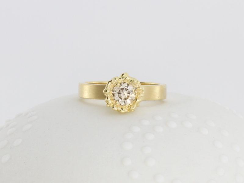 Payet cognac diamond ring