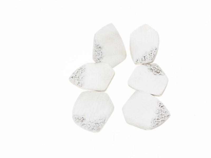 Fishwing sterling silver drop earrings